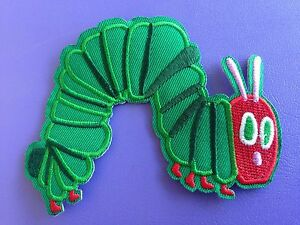THE-HUNGRY-CATERPILLAR-Embroided-Sew-Iron-on-DIY-Book-Clothes-Patch-Applique