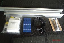 Solar Panel kit, glass, 36 solar cell, 1# Qsil 216, tabb, buss, diode, and flux