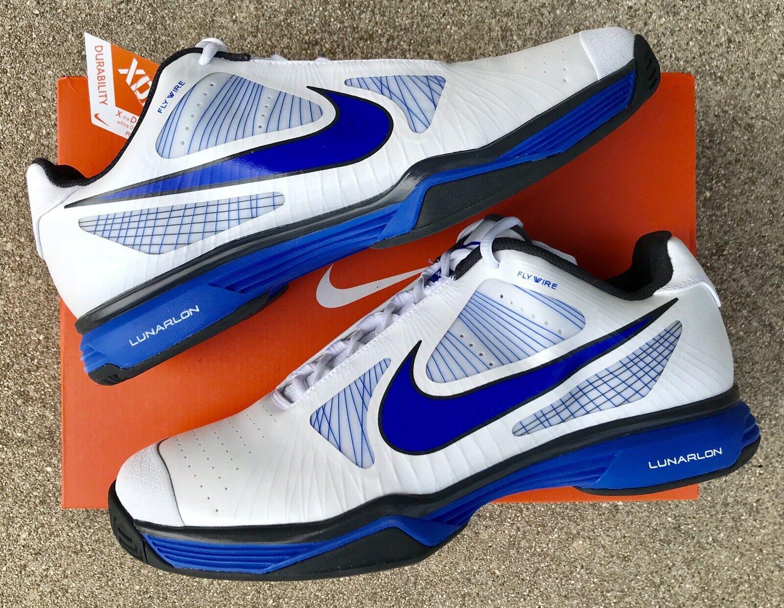 NWT Nike Nike Nike Tennis LUNAR VAPOR 8 TOUR Tennis schuhe  Blau WHT  11  ROGER FEDERER d81a0d
