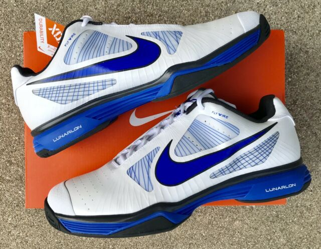 NWT Nike Tennis LUNAR VAPOR 8 TOUR Tennis Shoes! BLUE/WHT! 9.5! ROGER  FEDERER!