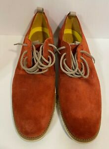 Cole-Haan-Men-039-s-Zerogrand-Derby-Oxford-Shoes-Red-Suede-Casual-Sz-10M