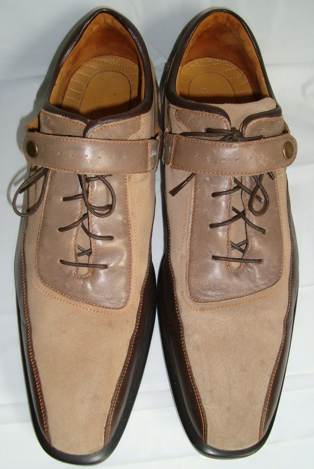 Cole Haan  Brown Tri-Colored Oxford 10 Spectator Bicycle Toe Shoes 10M