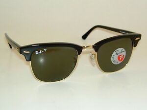 black clubmaster ray bans  New RAY BAN Sunglasses CLUBMASTER Black Frame RB 3016 901/58 ...
