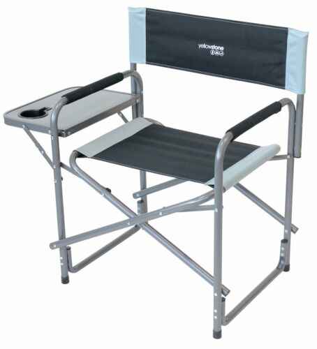 Yellowstone Director Chair With Side Table Fishing Caravan Festival Garden Chair