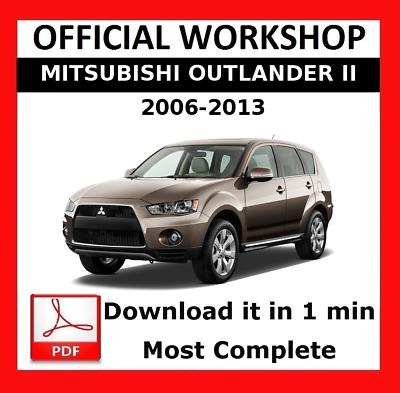 Mitsubishi ASX MY 2013 workshop manual workshop manual
