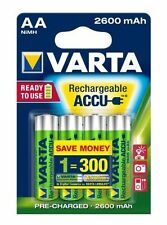 4 x VARTA AA Ni-MH 2600 mAh Ready2Use Rechargeable batteries R6 LR6 HR6