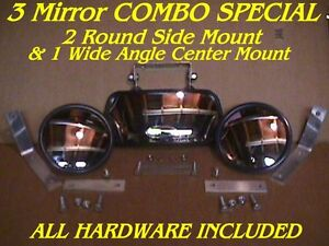 3-SkidSteer-MIRRORS-2-Side-amp-1-Center-skid-steer-loader-Fits-bobcat-gehl-cat-etc