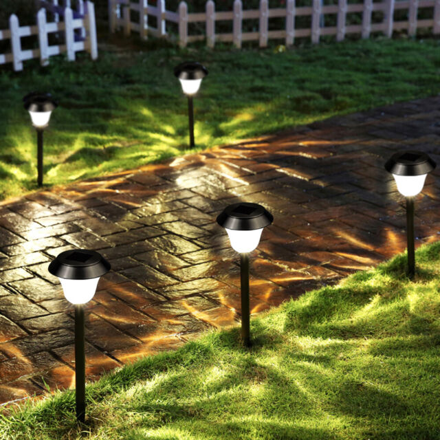 Solar Garden Lights Outdoor Color Changing Led Pathway Lamp Lighting D6h3