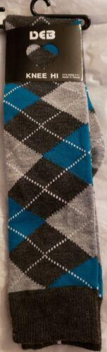 Deb Knee high socks~Blue /& Grey