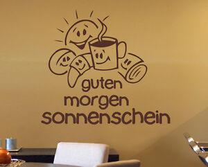 Details Zu Guten Morgen Sonnenschein Küche Esszimmer Kaffee Deko Wandaufkleber Wandtattoo