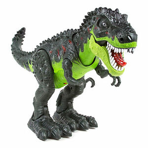 Retailery Walking Dinosaur T-Rex With Light And Dinosaur Sounds, Green