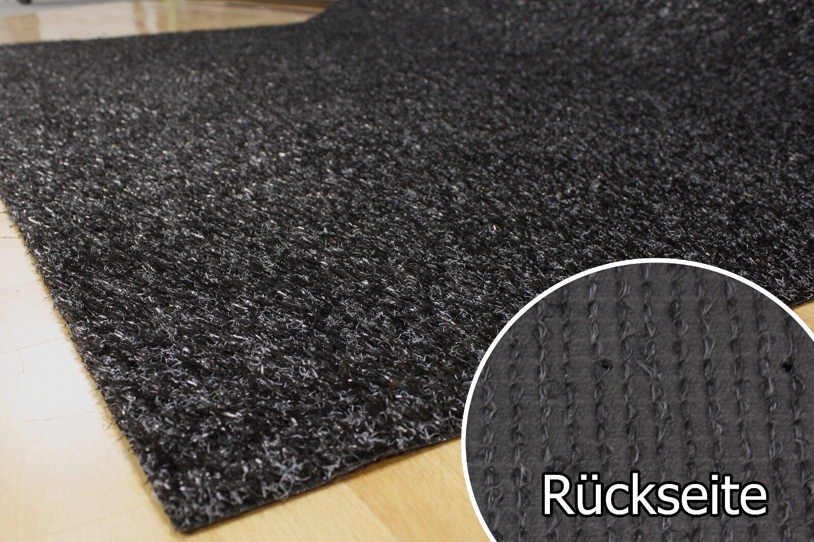 Rasenteppich Kunstrasen 15 mm Tuftrasen schwarz 200x570 cm