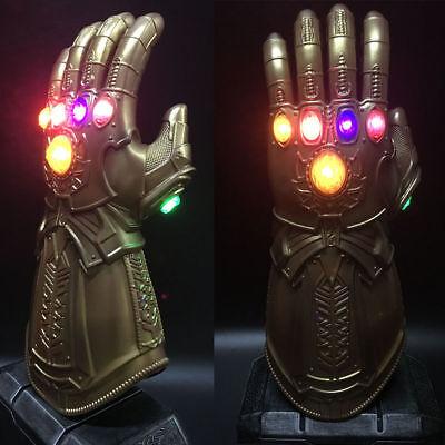 THANOS INFINITY GAUNTLET Lumière DEL gants cosplay AVENGERS INFINITY WAR Prop NOUS