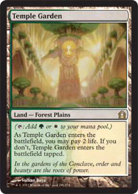 Temple Garden x1 Magic the Gathering 1x Return to Ravnica mtg card rare land