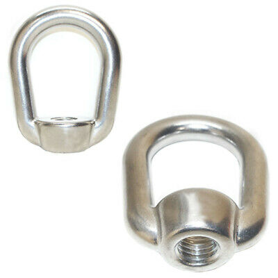 Marine 2,150 LBS Capacity UNC 2 PC Stainless Steel 316 Eye Nut Tap Thread 1//2