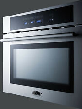 """Summit CMV24 Built in 24"""" Microwave, Convection Oven, Grill Stainless Steel"""