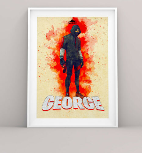 Personalised Fortnite ikonik Bedroom Wall Print Artwork canvas//paper print