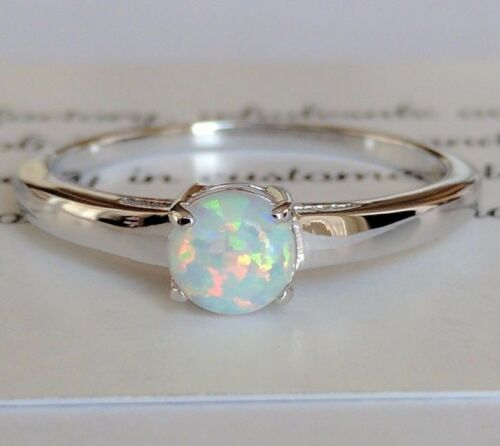 On Sale Fire Opal genuine solid 925 Sterling Silver  Gemstone Jewelry Ring 7,8,9