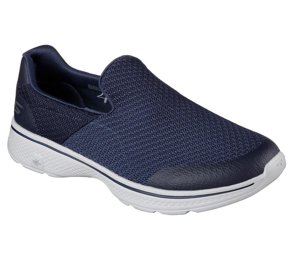 NEW SKECHERS Men Turnschuhe Trainers Loafers Memory Foam GO WALK 4 Blau