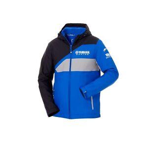 Genuine-Yamaha-Paddock-Blue-Men-039-s-Jacket-Tokyo-Blue-Hooded-Fleece-Jacket-NEW