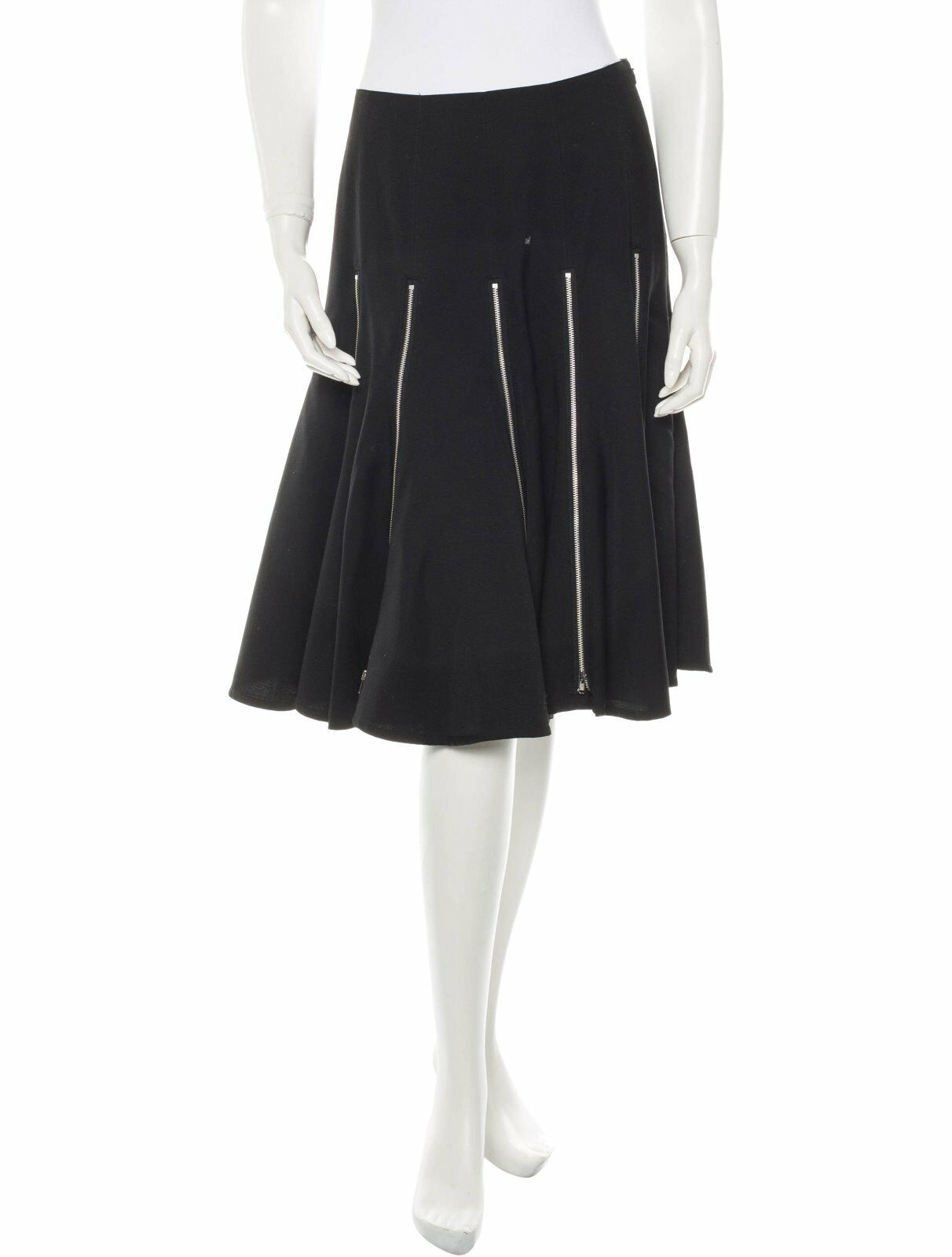 SPECTACULAR NEW  3K JUNYA WATANABE COMME DES GARCONS WOOL SKIRT WITH ZIPPERS
