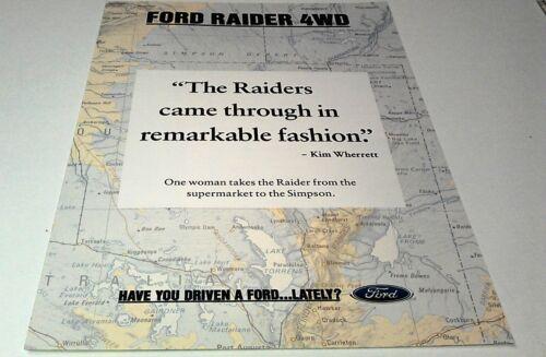 1992 FORD RAIDER 4WD  Australian  Sales Brochure