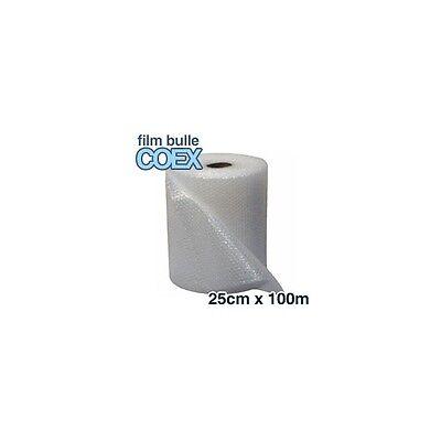 Lot de 6 rouleaux de film bulle dair COEX 25cm x 100m