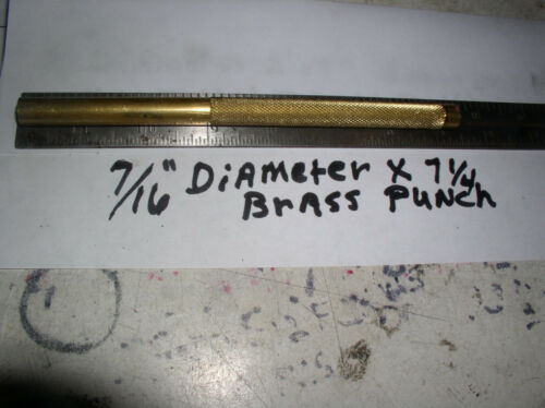 "7//16/"" BRASS DRIFT PUNCH 7//16/"" X  7 1//4/"" LONG  KB714 MADE IN USA 360 SOLID BRASS"