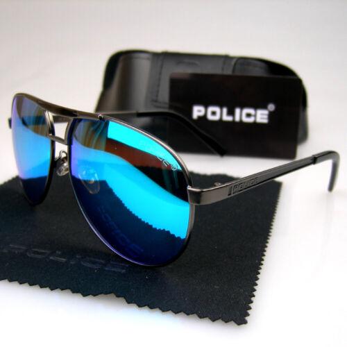 New Men Women Polarized Sunglasses Police Metal Frame Eyewear Driving Glasses