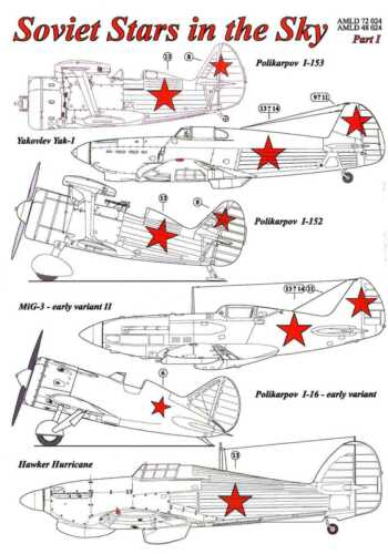 AML Models Decals 1//72 SOVIET STARS IN THE SKY Russian WWII National Markings #1