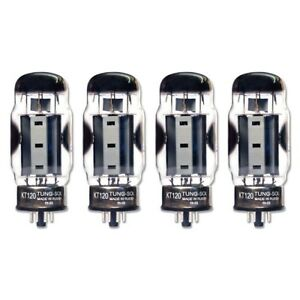 Brand New Factory Matched Quad (4) Tung-Sol Reissue KT120 / KT-120 Vacuum Tubes