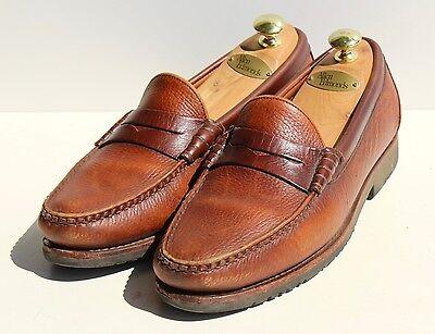 Allen Edmonds 11D Gentleman's 'Holton' Pebble-Grain Brown Slip-On Loafers - USA