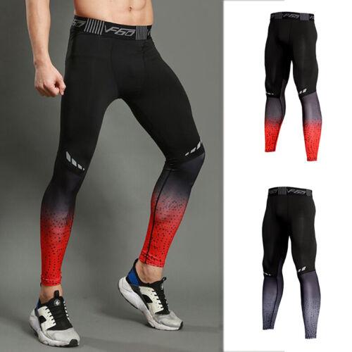 Men/'s Compression Leggings exercices Sous Base Couches Tight Fit Pantalon à séchage rapide