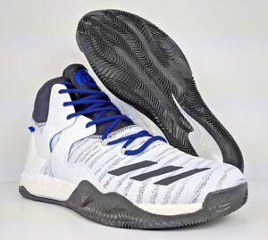 a96d554626cf adidas D Rose 7 Boost Primeknit PK Basketball Blue White Black Multi ...