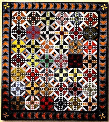 New Pieced THIMBLE CREEK Quilt Pattern  TWISTED TREATS  58 x 66