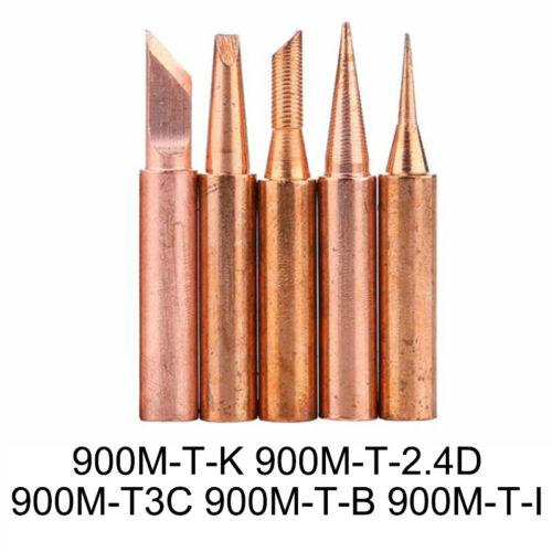 Copper Soldering Iron Replacement Tip 900M-T Solder Welding Tips Power Tool Set