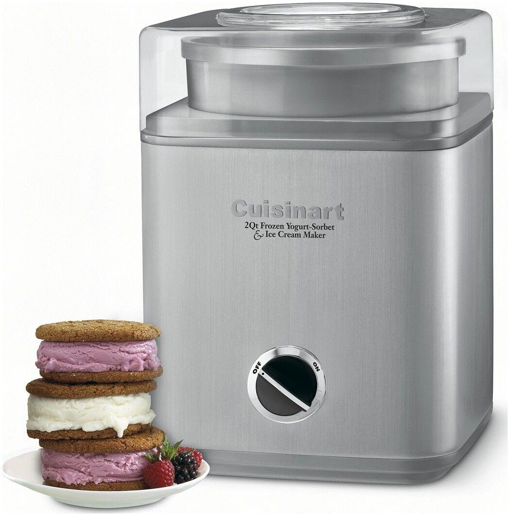 Cuisinart Frozen yaourt Sorbet & Ice Cream Maker Pure Indulgence 2 Qt