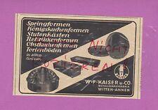WITTEN-ANNEN, Werbung 1951, W. F. Kaiser & Co. Metall-Waren-Fabrik Springform