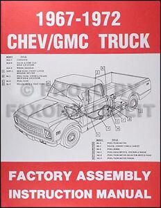 1967 1972 chevrolet truck factory assembly manual pickup suburban rh ebay com