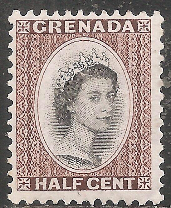 Grenada Stamp - Scott #171/A35 1/2c Chestnut OG Mint/LH 1954