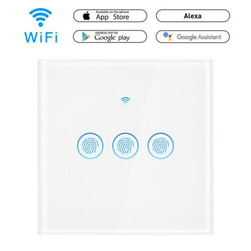 1 2 3 Gang Smart WiFi EU RF Panel Touch Switch Touchschalter Switch Smart life