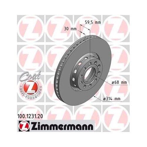 2x ZIMMERMANN Bremsscheiben AUDI A6 4A C4 AUDI A6 Avant 4A C4 AUDI A8 4D2 4D8