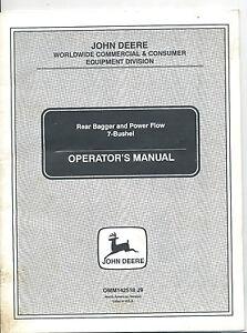 john deere rear bagger and power flow 7 bushel operator s manual rh ebay com John Deere Bagger Parts List john deere rear bagger installation