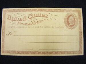 U-S-Postal-Card-UX-3-Unused-Not-Preprinted-Small-Watermark
