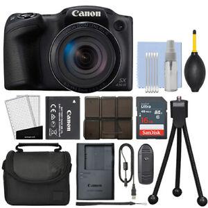 Canon-PowerShot-SX430-IS-20MP-Digital-Camera-45x-Optical-Zoom-Black-16GB-Kit