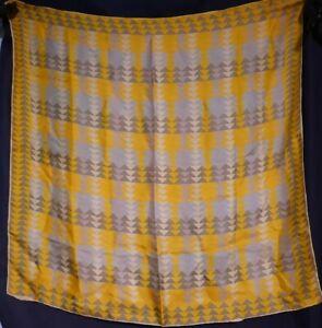 Vintage-1940-039-s-Abstract-Geometric-Silk-Vera-Neumann-scarf-27-x-27