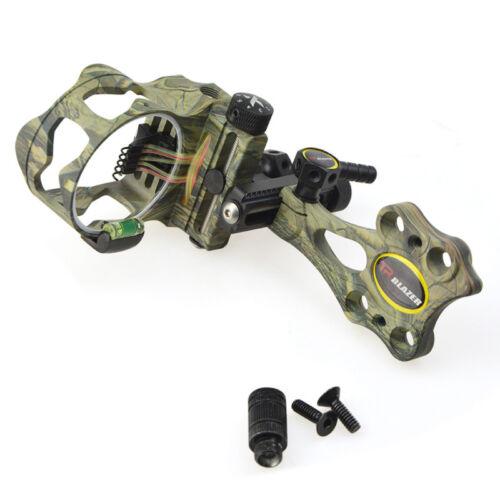 "Archery Compound Bow Sight Micro Réglable 5 broches .019 /""fibre optique chasse"