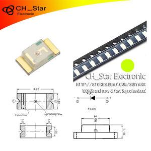 100pcs-Smd-Smt-1206-3216-Led-Amarillo-Verde-diodos-emisores-de-luz-Super-Brillante