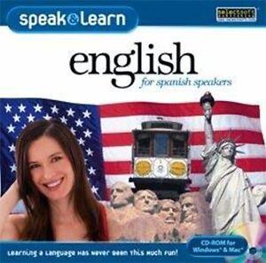 Speak & Learn English for Spanish speakers Win XP Vista 7 8 10 Brand New