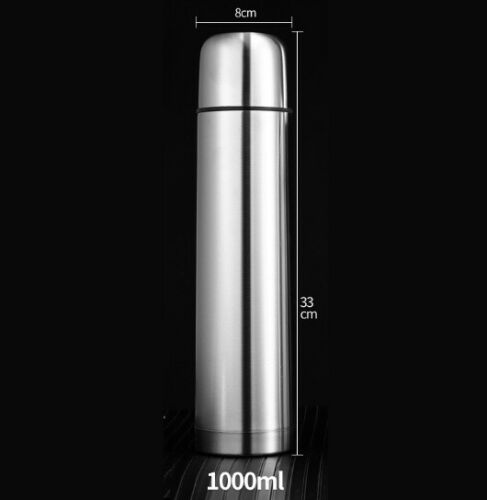 Water Bottle Vacuum Travel Cup Double Layer Bullet Shape Thermos Stainless Steel